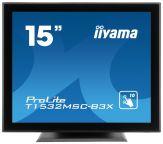 "Iiyama ProLite 1532MSC-B3X - LCD-Monitor - 38 cm ( 15"" ) 4:3 - 1024 x 768 - TN - 350 cd/m2 - 500:1 - 8 ms - DVI-D, VGA, USB - Lautsprecher - Schwarz"