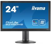 "Iiyama ProLite B2480HS-B2 - Business LED-Monitor - 61 cm ( 24"" ) 16:9 - 1920 x 1080 FullHD - TN - 250 cd/m2 - 1 ms - HDMI, DVI-D, VGA - Lautsprecher"