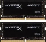 Kingston HyperX Impact - DDR4 - 8 GB : 2 x 4 GB - SO DIMM 260-PIN - 2400 MHz / PC4-19200 - CL14 - 1.2 V - ungepuffert - nicht-ECC