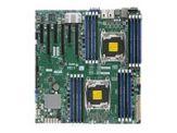 SUPERMICRO X10DRI-T - Motherboard - Erweitertes ATX - LGA2011-v3-Sockel - 2 Unterstützte CPUs - C612 - USB 3.0 - 2 x 10 Gigabit LAN - Onboard-Grafik