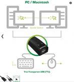 InLine USB KM-Umschalter - 2 PCs - für Tastatur - Maus - mit Maus-Transfer zwischen den Monitoren