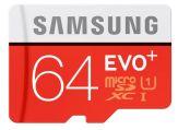 Samsung EVO+ MB-MC64DA - Flash-Speicherkarte ( microSDXC-an-SD-Adapter inbegriffen ) - 64 GB - UHS Class 1 - microSDXC UHS-I