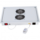 "Fan unit 220V/30W 2fans thermostat - 19"", Lichtgrau"