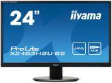 """Iiyama ProLite X2483HSU-B2 - LED-Monitor - 61 cm( 24"""" ) 1920 x 1080 FullHD - AMVA+LED - 250 cd/m2 - 5Mio.:1 ACR - 4 ms -  VGA, DVI-D - USB Hub"""