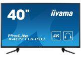 """Iiyama ProLite X4071UHSU-B1 - LED-Monitor - 101.6 cm ( 40"""" ) - 4K 3840 x 2160 - 2xHDMI, HDMI (MHL), VGA, DisplayPort"""