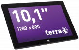 "TERRA PAD 1061 W10 Home 64GB Schwarz 64 GB Schwarz - 10,1"" Tablet - Atom/ Celeron M/ Pentium M/Centrino 1,83 GHz 25,8cm-Display"