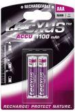 Tecxus - Rechargeable Akku 2 x AAA NiMH 1100 mAh