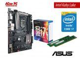 Aufrüstkit Intel XXXL - CPU: Intel Core i7-7700 + Motherboard: ASUS MAXIMUS VIII RANGER ATX + RAM: PNY Anarchy 16 GB DDR4 (2 x 8 GB)