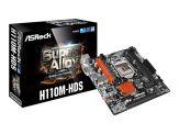 ASRock H110M-HDS - Motherboard - Mikro-ATX - LGA1151 Socket - H110 - USB 3.0 - Gigabit LAN - Onboard-Grafik (CPU erforderlich) - HD Audio (8-Kanal)