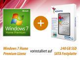 Option für i3, i5 und i7 Highspeed SILENT Allrounder G6 besthend aus: 240 GB SSD + Win 7 Home, vorinstalliert und versiegelt