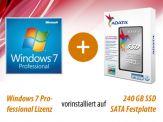 Option für i3, i5 und i7 Highspeed SILENT Allrounder G6 besthend aus: 240 GB SSD + Win 7 Pro, vorinstalliert und versiegelt