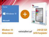 Option für i3, i5 und i7 Highspeed SILENT Allrounder G7 + AdM Intel Starter besthend aus: 240 GB SSD + Win 10 Home, vorinstalliert und versiegelt