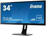 """Iiyama ProLite XUB3490WQSU-B1 - LED-Monitor - 86.7 cm ( 34"""" ) - 3440 x 1440 - AH-IPS - 320 cd/m² - 1000:1 - 5 ms - 2xHDMI, DisplayPort, MHL - Lautspr."""