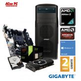ACom Ultra Gamer AMD X4-470 - Win 10 - AMD II X4 880K  - 8 GB RAM  - 120 GB SSD + 1 TB HDD - DVD-Brenner - Radeon RX 470 4 GB - USB3.0 - 530 Watt