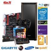 ACom Be Quiet! Gamer G6 i7-1080 - Win10 - Intel Core i7-6850K - 32 GB RAM - 500 GB SSD + 4 TB HDD - BluRay - GeForce GTX 1080 - WLAN