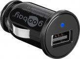 goobay - Netzteil - Pkw / KFZ - 1 A - Ausgabeanschlussstellen ( USB )