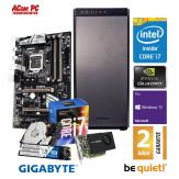 ACom SILENT Grafik/Video Workstation G7 i7-K2200 - Win 10 Pro - Intel Core i7-7700K - 32 GB RAM - 1 TB SSD(M.2) + 2 TB 24/7 HDD - DVD - Quadro K2200
