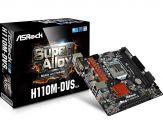 ASRock H110M-DVS - 3.0 - Motherboard - Mikro-ATX - LGA1151 Socket - H110 - Gigabit LAN - Onboard-Grafik (CPU erforderlich) - HD Audio (8-Kanal)