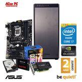 ACom SILENT Grafik/Video Workstation G7 i7-K1200 - Intel Core i7-7700 - 32 GB RAM - 480 GB SSD + 2 TB 24/7 HDD - DVD - Quadro K1200