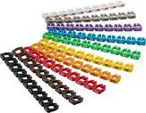 """Kabelmarker-Clips """"Ziffern 0-9"""", Ziffern jeweils in einer unterschiedlichen Farbe für Kabeldurchmess"""