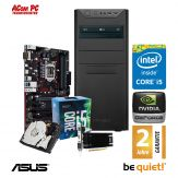 ACom i5 Highspeed SILENT Allrounder G7 V2 - ohne Win - Intel Core i5-7400 - 8 GB RAM DDR4 + 1 TB HDD - DVD-Brenner - USB 3.0 - GT 710 2 GB