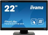 """Iiyama ProLite T2252MTS-B5 - LED-Monitor - 54.6 cm( 21.5"""" ) - Multi-Touch - 1920 x 1080 FullHD - TN - 220 cd/m2 - 5Mio.:1 (dyn.) - 2 ms -  HDMI, DVI,"""