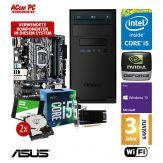 ACom Business CHEF PC 220 - Win10 Pro - Intel Core i5-7500 - 16 GB RAM - 240 GB SSD + 2x 1TB HDD Raid - DVD-Brenner - GT 730 - WLAN - 3 Jahre Garantie