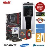 ACom Ultra Gamer - Win 10 - AMD Ryzen 7 1700 - 16 GB RAM - 250 GB SSD M.2 - 1 TB HDD - DVD-Brenner - GF GTX 1060 6 GB - USB 3.1 -550 Watt