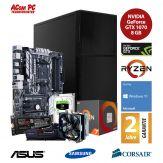 ACom Ultra Gamer - Win 10 - AMD Ryzen 7 1700X - 16 GB RAM - 250 GB SSD M.2 - 2 TB HDD - DVD-Brenner - GF GTX 1070 8 GB - USB 3.0 -650 Watt