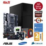 ACom Ultra Gamer - Win 10 - AMD Ryzen 7 1700X - 16 GB RAM - 250 GB SSD M.2 - 2 TB HDD - DVD-Brenner - Radeon RX 580 8 GB - USB 3.0 -650 Watt