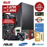 ACom Ultra Gamer - Win 10 - AMD Ryzen 7 1800X - 16 GB RAM - 500 GB SSD M.2 - 2 TB HDD - DVD-Brenner - GF GTX 1080 8 GB - USB 3.0 -650 Watt