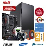 ACom Ultra Gamer - Win 10 - AMD Ryzen 7 1800X - 16 GB RAM - 500 GB SSD M.2 - 2 TB HDD - DVD-Brenner - Radeon RX 580 8 GB - USB 3.0 - 650 Watt