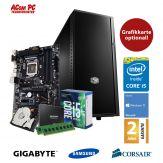 ACom Frühjahrs Special G7 i5-7600K - Win 10 - Intel Core i5-7600K - 8 GB RAM - 250 GB SSD + 1 TB HDD -  Grafikkarte Optional  - 550 Watt