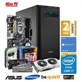 ACom Sommer Special G7 i7-1060 V2 - Win 10 - Intel Core i7-7700 Kaby Lake - 16 GB RAM - 250 GB SSD M.2 + 1 TB HDD - GF GTX 1060 - 550 Watt