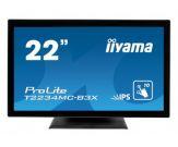 "Iiyama ProLite T2234MC-B3X - LED-Monitor - 54.6 cm ( 21.5"" ) - Multi-Touch - 1920 x 1080 FullHD - IPS - 250 cd/m2 - 1000:1 - 8 ms - DVI-D, VGA"