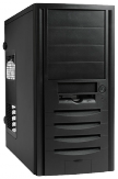 IN WIN J523 - Midi Tower - ATX - 350 Watt Netzteil - USB/Audio - schwarz