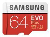 Samsung EVO+ MB-MC64G - Flash-Speicherkarte (microSDXC-an-SD-Adapter inbegriffen) - 64 GB - UHS-I U3 / Class10 - microSDXC UHS-I