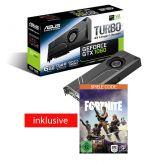 ASUS TURBO-GTX1060-6G - Grafikkarte - GF GTX 1060 - 6 GB GDDR5 - PCIe 3.0 x16 - DVI, 2 x HDMI, 2 x DisplayPort