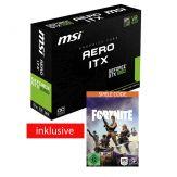 MSI GTX 1060 AERO ITX 3G OC - Grafikkarten - GF GTX 1060 - 3 GB GDDR5 - PCIe 3.0 x16 - DVI, 2 x HDMI, 2 x DisplayPort