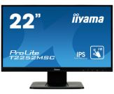 "Iiyama ProLite T2252MSC-B1 - LED-Monitor - 55.9 cm (22"") (21.5"" sichtbar) - Touchscreen - 1920 x 1080 Full HD (1080p) - IPS - HDMI, VGA, DisplayP. -sw"