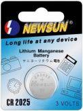 Newsun - Lithium CR2025 3V Knopfzelle 1er Pack