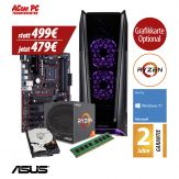 ACom Ultra Gamer - Win 10 - AMD Ryzen 3 1200 - 8 GB RAM - 1 TB HDD - 500 Watt Netzteil - Grafikkarte optional