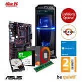 ACom Ultra Gamer - Win 10 - AMD Ryzen 5 1500X - 8 GB RAM - 240 GB SSD + 1 TB HDD - DVD-Brenner -  Grafikkarte Optional - USB 3.0 -500 Watt