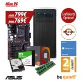 ACom Ultra Gamer - Win 10 - AMD Ryzen 5 1600 - 16 GB RAM - 240 GB SSD + 1 TB HDD - DVD-Brenner - USB 3.0 - 500 Watt Netzteil - Grafikkarte optional