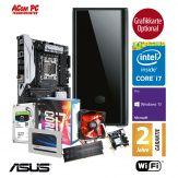 ACom SILENT Grafik/Video Workstation G7 i7-6800K - Win10 Pro - Intel Core i7-6800K - 32 GB RAM - 525GB SSD + 2TB 24/7 HDD - DVD - Grafikkarte Optional