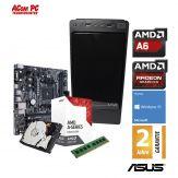 ACom AMD STARTER Bristol 110 - Win 10 - AMD A6-9500 - 4 GB RAM - 1 TB HDD - DVD-Brenner - Radeon R5 Series Graphics - USB 3.0 - 350 Watt