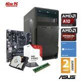 ACom AMD STARTER Bristol 130 - Win 10 - AMD A10-9700 - 4 GB RAM - 1 TB HDD - DVD-Brenner - Radeon R7 Series Graphics - USB 3.0 - 350 Watt