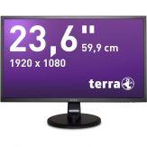 """TERRA 2447W - LED-Monitor 59.9 cm (23.6"""") - 1920 x 1080 Full HD (1080p) - MVA - 250 cd/m² - 5 ms - HDMI - DVI - Lautsprecher - mattschwarz"""