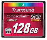 Transcend Flash-Speicherkarte - Speicherkapazität: 128 GB - Geschwindigkeit: 800x - lesen 120 MB/s / schreiben 60 MB/s