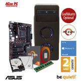 ACom Ultra Gamer - Win 10 - AMD Ryzen 5 1500X V1 - 8 GB RAM - 240 GB SSD + 1 TB HDD - DVD-Brenner - 600 Watt Netzteil - Grafikkarte optional